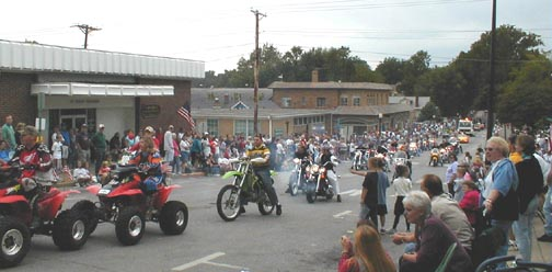 The Shriners on their motorcycles